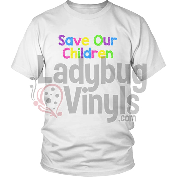 Save Our Children T-Shirt District Unisex Shirt / White S