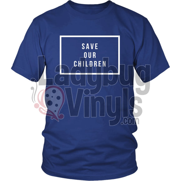 #saveourchildren T-Shirt District Unisex Shirt / Royal Blue S