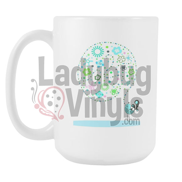 Singing Bird 15oz Coffee Mug - LadybugVinyls