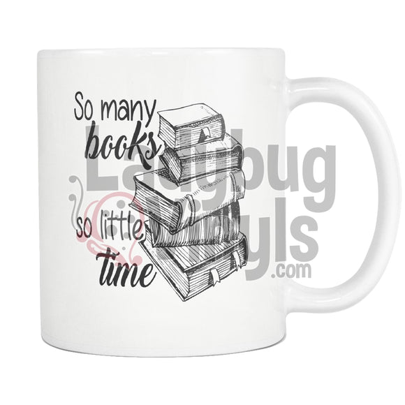 So Many Books Mug - LadybugVinyls