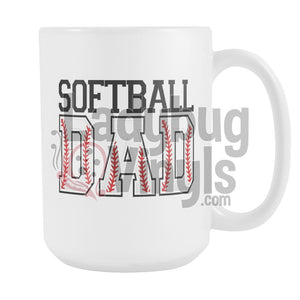 Softball Parents 15oz Coffee Mug - LadybugVinyls