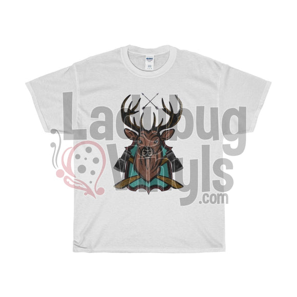Stag Mens T-Shirt White / L