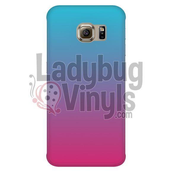 Teal Pink Gradient Phone Case Galaxy S6 Edge Cases
