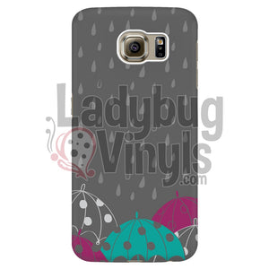 Teal Umbrella Phone Case - LadybugVinyls