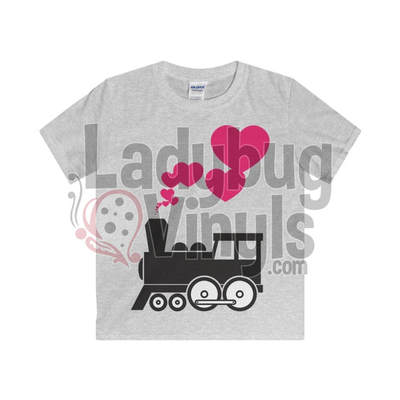 Train Love Boys T-Shirt Sport Grey / Xs Kids Clothes