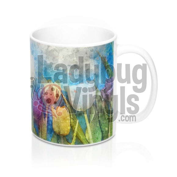 Tulips All Over Print 11Oz Coffee Mug