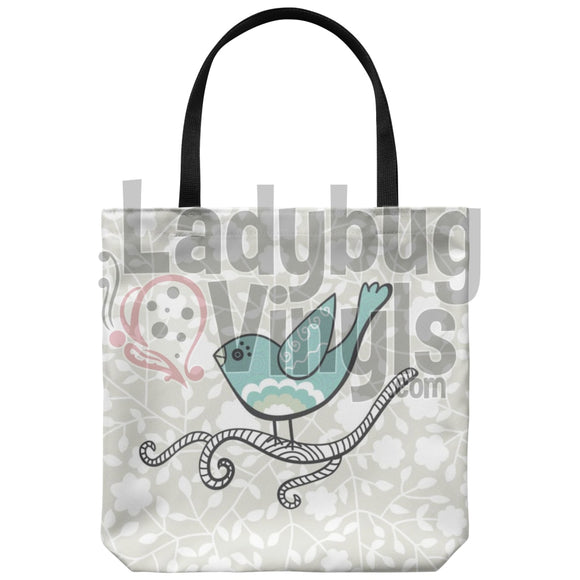 Vintage Bird Tote Bag - LadybugVinyls