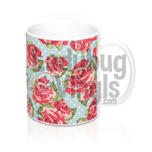 Vintage Rose All Over Print 11Oz Coffee Mug