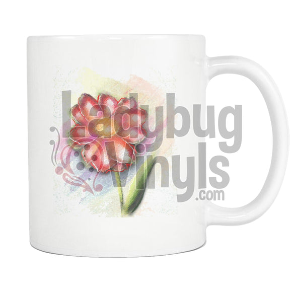 Watercolor Flower Flower Drinkware