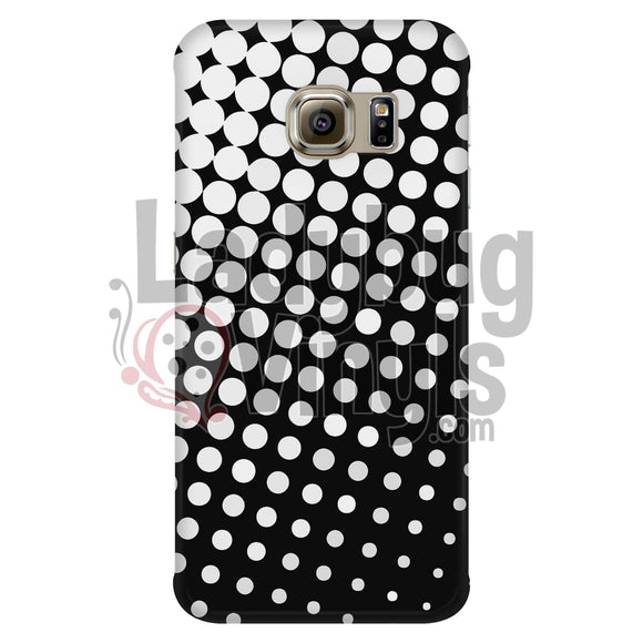 White And Black Halftone Phone Case Galaxy S6 Edge Cases