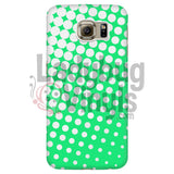 White And Green Halftone Phone Case Galaxy S6 Cases