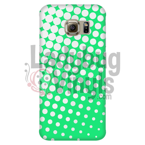 White And Green Halftone Phone Case Galaxy S6 Edge Cases