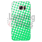 White And Green Halftone Phone Case Galaxy S7 Cases