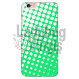White And Green Halftone Phone Case Iphone 6 Plus/6S Plus Cases