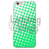 White And Green Halftone Phone Case Iphone 6/6S Cases