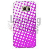 White And Pink Halftone Phone Case Galaxy S6 Cases