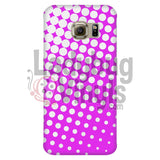 White And Pink Halftone Phone Case Galaxy S6 Edge Cases