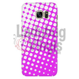 White And Pink Halftone Phone Case Galaxy S7 Cases
