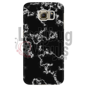 White on Black Marble Phone Case - LadybugVinyls