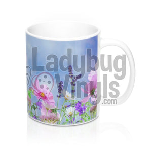 Wildflowers All Over Print 11oz Coffee Mug - LadybugVinyls