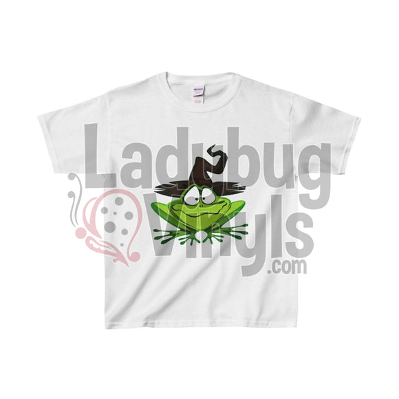 Witch Frog Kids Heavy Cotton Tee White / L Clothes