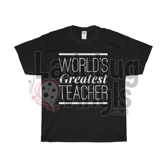 World's Greatest Teacher Men's T-Shirt - LadybugVinyls