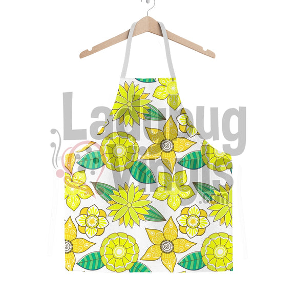 Yellow Flowers Classic Sublimation Adult Apron - LadybugVinyls