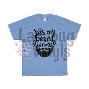 Yes My Beard Is Real Men's T-Shirt - LadybugVinyls