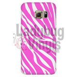 Zebra Print (Pink) Phone Case Galaxy S6 Edge Cases