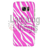 Zebra Print (Pink) Phone Case Galaxy S7 Cases