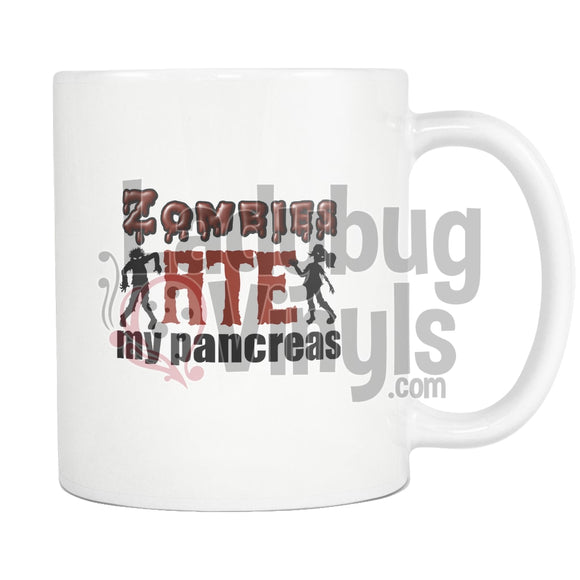 Zombies Ate My Pancreas 11Oz Coffee Mug Drinkware
