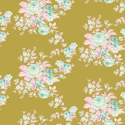 Tilda Harvest Floral Autumn Rose Green