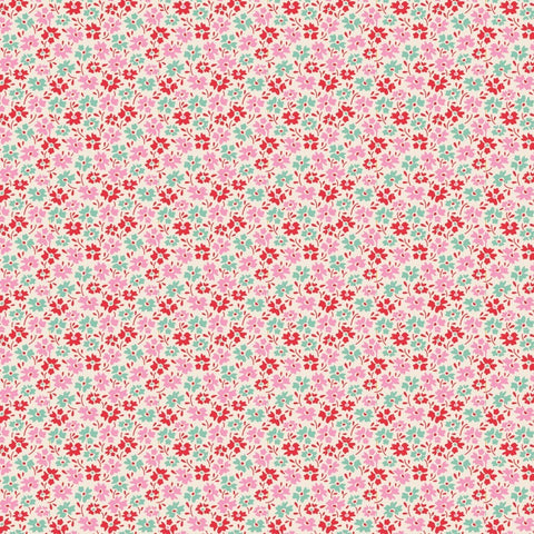 Tilda Lemontree Collection Flowerfield Red