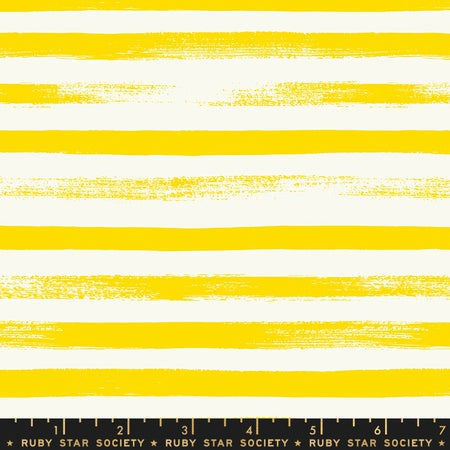 Moda Ruby Star Society Pop & Zip Basic Stripe Lemon Yellow