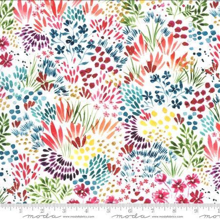 {New Arrival} Moda Moody Bloom Meadow Digital White Multi