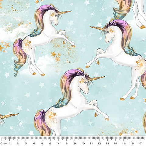 {Pre-Order January} Rainbow Unicorn Unicorns on Celestial Clouds Blue