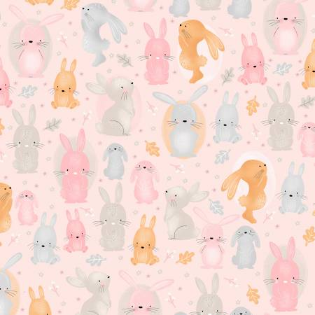 A.E. Nathan Comfy FLANNEL Pink Bunny Comfy Flannel