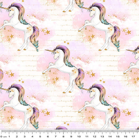 {Pre-Order January} Rainbow Unicorn Unicorns on Whispy Clouds Cream