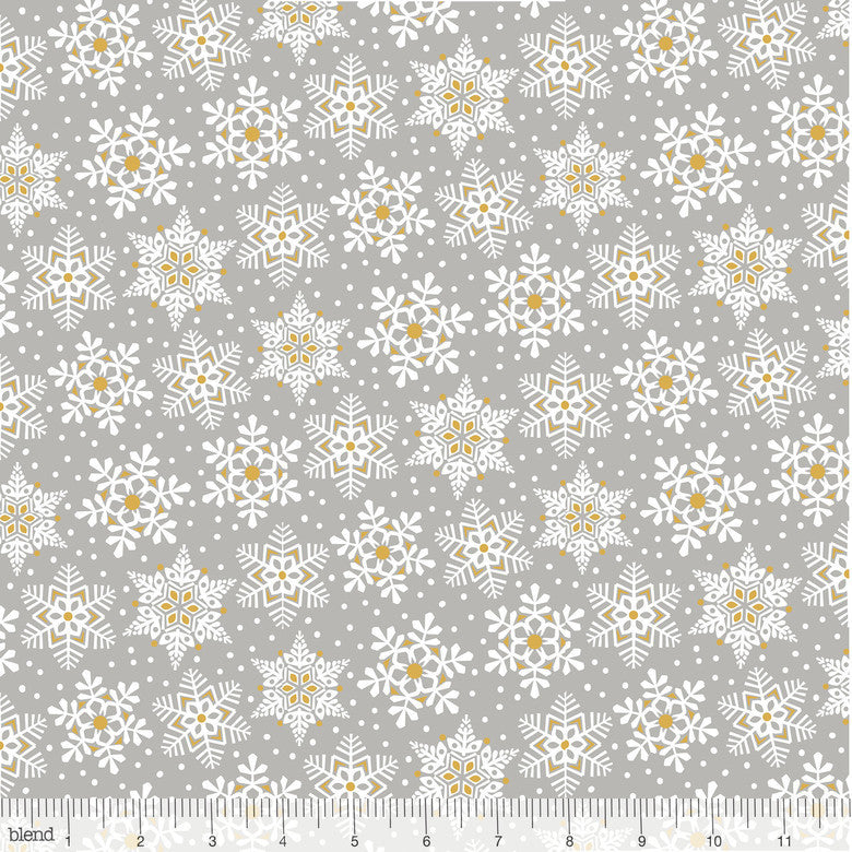 Blend Snowflake Waltz Land of Snow Grey