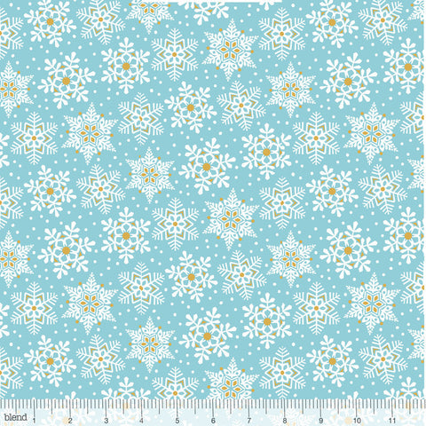 Blend Snowflake Waltz Land of Snow Blue
