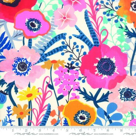 {New Arrival} Moda Botanica RAYON Main Floral Porcelain