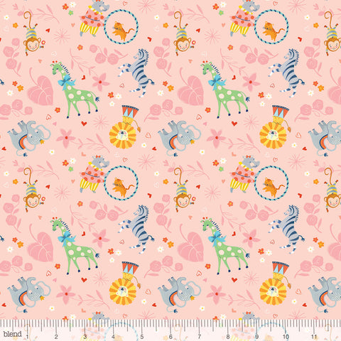 Blend Fabrics Story Time Big Top Pink