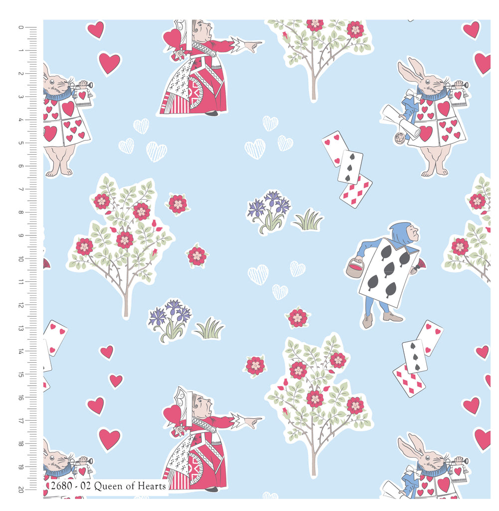 {New Arrival} The Craft Cotton Co Alice in Wonderland Queen of Hearts