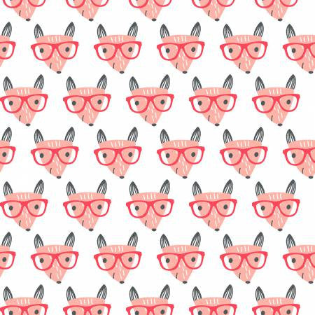 Fabric Editions Good Night White Fox w/Glasses