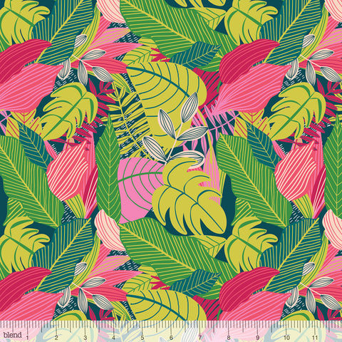 Blend Fabrics Junglemania  Jungle Pink