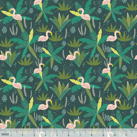 Blend Fabrics Junglemania Jungle Teal
