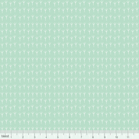 Blend Fabrics Mia Charro Birdie Collection Bird Feet Mint