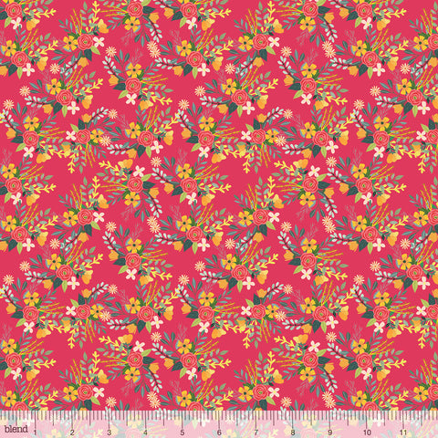 Blend Fabrics Mia Charro Birdie Collection Amore Raspberry