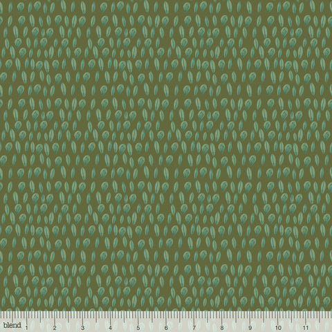 {New Arrival} Blend Fabrics Mia Charro Forest Friends Sweet Leaves Olive