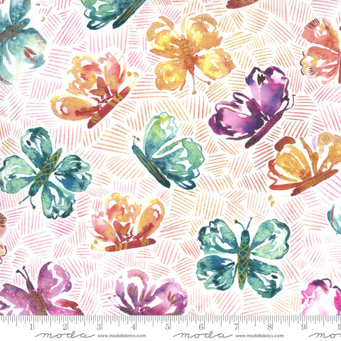 {New Arrival} Moda Sunshine Soul All Aflutter Butterflies Sunset